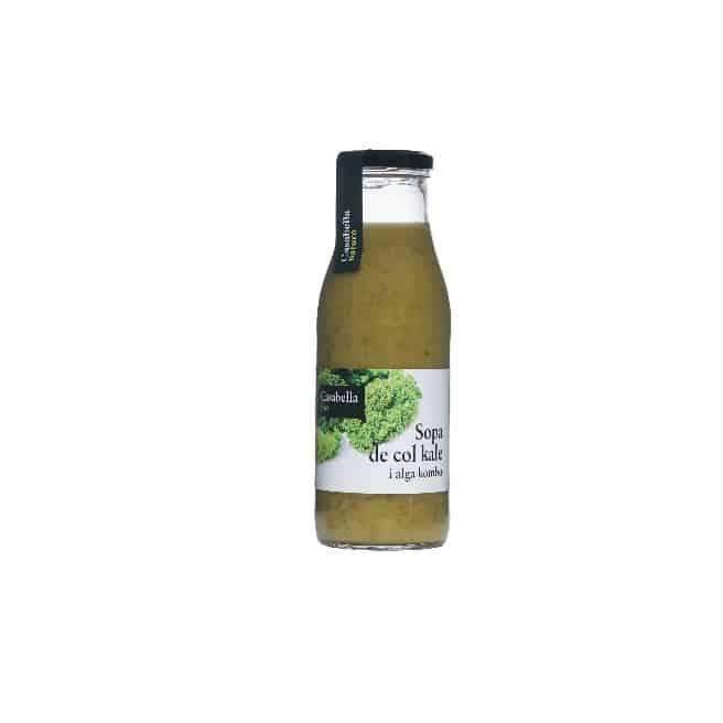 Crema ecològica de col kale i alga kombu
